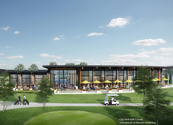 City Park Golf Course Clubhouse rendering