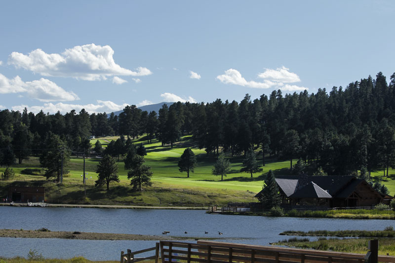 View of Evergreen Golf Course from across the lake