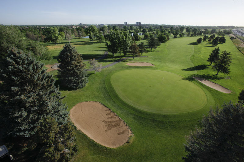Kennedy #7 green from an aerial view
